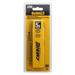 DEWALT DWHT11925F, BLADE-UTILITY REPLACEMENT - DEWALT - SNAPOFF 25MM 20 PACK DWHT11925F