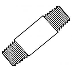 BMI 10985, PIPE NIPPLE-BLACK - 2 X 60 10985