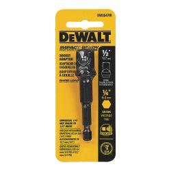 "DEWALT DW2547IR, SOCKET ADAPTOR - 1/4"" HEX X 1/2"" SQ DR DW2547IR"