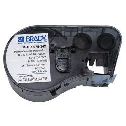 "BRADY M-187-075-342, LABEL-WIRE MARKING SLEEVE B342 - BLACK ON WHITE .75"" X .335 - M-187-075-342"