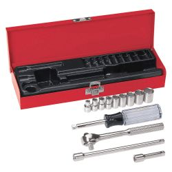 "KLEIN TOOLS 65500, SOCKET-WRENCH SET, 13-PC. 1/4"" - DRIVE 65500"