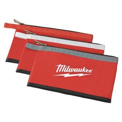 MILWAUKEE 48-22-8193, ZIPPERED POUCHES-COLOURED - 3 PACK 48-22-8193