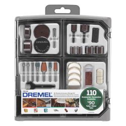"BOSCH DREMEL 709-02, ACCESSORY SET-110 PCS ""SUPER"" - W/STORAGE CASE DREMEL 709-02"