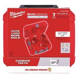 MILWAUKEE 49-56-9280, HOLE CUTTER KIT 7 PC - BIG HAWG 49-56-9280
