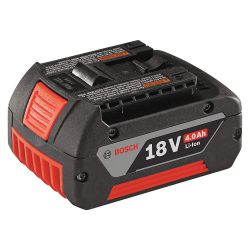 BOSCH BAT620, BATTERY-4.0AH 18V MAX LI-ION - FAT PACK W/FUEL GAUGE - BAT620