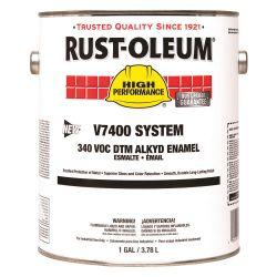 RUST-OLEUM 245484, PAINT-ENAMEL LOW VOC - 1 GAL GLOSS SILVER GRAY 245484