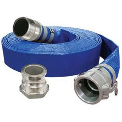 """KING TOOLS KW-503, DISCHARGE HOSE - FLAT PVC - 3"""" X 50FT - KW-503"""