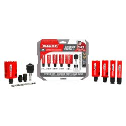 HOLESAW KIT 9 PC - CARBIDE