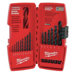 MILWAUKEE 48-89-2803, DRILL BIT SET 15 PC - THUNDERBOLT BLACK OXIDE 48-89-2803
