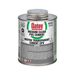 OATEY 31537, CEMENT PVC-MEDIUM CLEAR - 473 ML 31537