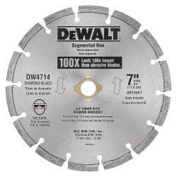 """DEWALT DW4714, BLADE-MASONARY SEGMENENTED - 7"""" X 7/8 OR 5/8 ARBOR DIAMOND DW4714"""
