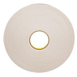 "3M 4492-1/2X72WHT, TAPE-DOUBLE COATED POLY FOAM - 12 MM X 72Y (1/2"" ) 4492-1/2X72WHT"