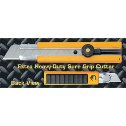 OLFA H-1, UTILITY KNIFE XHD -  25MM RUBBER INSET GRIP