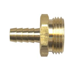 FAIRVIEW 193-6, CONNECTOR-BRASS 3/8 - HOSE BARB X MALE HOSE THREAD 193-6