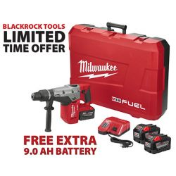"MILWAUKEE 2717-22HD-PROMO, ROTARY HAMMER KIT 1-9/16"" - M18 FUEL 9.0 AH SDS MAX - 2717-22HD-PROMO"