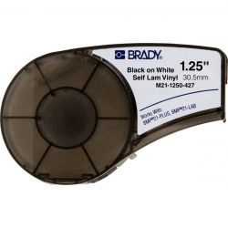 "TAPE-SELF LAMS BLACK/WHITE - 1.25"" X 14' BMP21/IDPAL/LABPAL"
