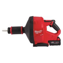 MILWAUKEE 2772B-21XC, DRAIN SNAKE W/CABLE DRIVE KIT - M18 FUEL (1)XC5.0 BATTERY 2772B-21XC