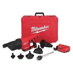MILWAUKEE 2572B-21, DRAIN CLEANING AIR GUN KIT - M12 AIRSNAKE W/ TOILET ATTACH 2572B-21
