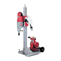 MILWAUKEE 4120-22, CORE RIG COMPLETE W/LARGE VAC - PAD, AMP METER, MOTOR, STAND 4120-22