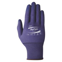 ANSELL 11-818-10, HYFLEX GLOVE FORTIX BLUE FOAM - NITRILE SIZE 10 - 11-818-10