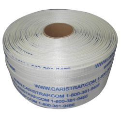 "CARISTRAP 10458, WOVEN STRAPPING 3/4"" X 1639' - 65WO NATURAL 2 ROLLS/CS 10458"