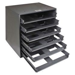 KLEIN TOOLS 54476, MID-SIZE 6-BOX SLIDE RACK 54476