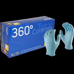 GLOVE-NITRILE TOTAL COVERAGE - 5 MIL BLUE 100/BOX  XL