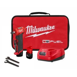 """DIE GRINDER - 1/4"""" RIGHT ANGLE M12 FUEL KIT - 2 BATTERIES"""