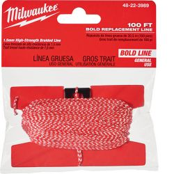 MILWAUKEE 48-22-3989, CHALK LINE REPLACEMENT 100 FT - BOLD 48-22-3989