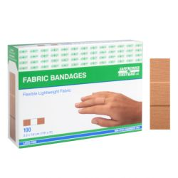 "SAFECROSS FIRST AID 03029, BANDAID-LIGHT WEIGHT FABRIC - 7/8 X 3"" 100/BOX 03029"