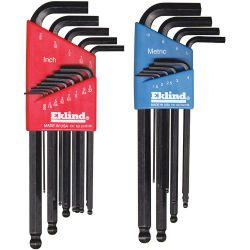 EKLIND 13609, BALLDRIVER L WRENCH SET BLX9 - 1.5 2 2.5 3 4 5 6 8 10 9 PC 13609