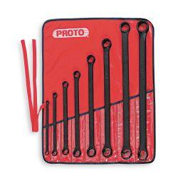 PROTO J1100MB, 8PC PROTOBLACK BOX WRENCH SET - 12 POINT J1100MB