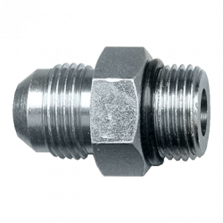 FAIRVIEW S3648-68, CONNECTOR - STEEL - 3/8 TX3/4 16 ORB #848FSO06-08 S3648-68
