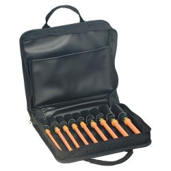 "KLEIN TOOLS 33524, NUT DRIVER SET-INSULATED 9PC - C/W CASE 6"" SHAFT 3/16-5/8 33524"