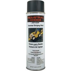 RUST-OLEUM 1677838, INVERTED STRIPING PAINT-IC - 18 OZ AEROSOL BLACK 1677838