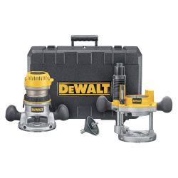 DEWALT DW616PK, 1-3/4 HP FIXED BASE / PLUNGE - ROUTER COMBO KIT DW616PK