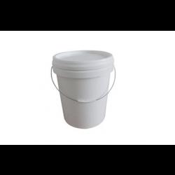 IPL 6195000122, PAIL-POLY PLASTIC WHITE - 5 GAL W/METAL HANDLE #4222 6195000122