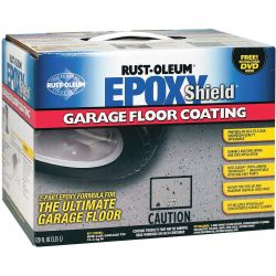 RUST-OLEUM N233005, GARAGE FLOOR COATING KIT 2PART - EPOXYSHIELD WATER BASED GRAY N233005