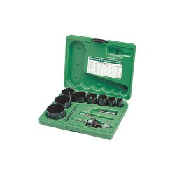 GREENLEE 891, HOLE SAW KIT-ELECTRICIANS - AND PLUMBERS 3/4 - 2-1/2 891