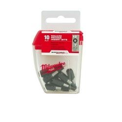 MILWAUKEE 48-32-5008I, INSERT BIT-SQ #2 TICTAC - 10/PACK 48-32-5008I
