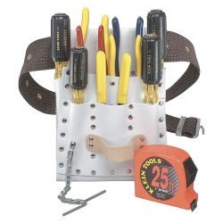 KLEIN TOOLS 5300, ELECTRICIANS TOOL SET WITH - POUCH, BELT AND 10 HAND TOOLS 5300