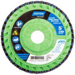 SAINT-GOBAIN NORTON 99009, DISC-FLAP 5 X 7/8 - 60G NEON QUICK TRIM T27 99009