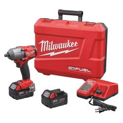 "MILWAUKEE 2861-22, IMPACT WRENCH -1/2"" MID TORQUE - M18 FUEL W/FRICTION RING KIT 2861-22"