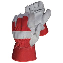 SUPERIOR GLOVE 66BRVIB, GLOVE-ANTI VIBE PALM - FITTERS SIDE SPLIT LEATHER - 66BRVIB