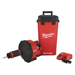 MILWAUKEE 2772A-21, DRAIN SNAKE W/CABLE DRIVE KIT - M18 FUEL (1)CP2.0 BATTERY 2772A-21