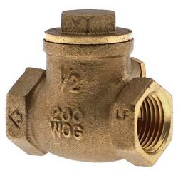 "BOSHART INDUSTRIES 08060311NL, CHECK VALVE-THREADED SWING - 1/2"" 200 PSI NO LEAD 08060311NL"