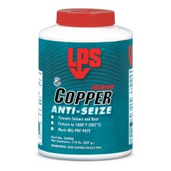ITW PRO BRANDS LPS C02908, LPS PREMIUM COPPER ANTI-SEIZE - 227 GR BRUSH TOP C02908