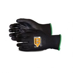 SUPERIOR GLOVE STAGBPU-12, GLOVE-CUT RESISTANT TENACTIV - POLY PALM COATED ASTM 4- SZ12 - STAGBPU-12
