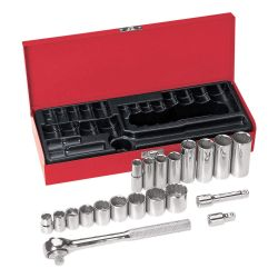 "KLEIN TOOLS 65508, SOCKET-WRENCH SET, 20-PC. 3/8"" - DRIVE 65508"
