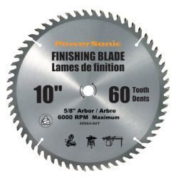 "ROK 40064, 10"" CONTRACTOR'S SAW BLADE - CARBIDE TIPPED 60T 40064"